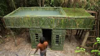 The Most Beautiful House Building With Wall Decor With Bamboo