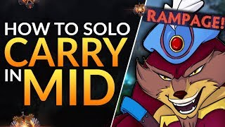 How to SOLO CARRY from Mid Lane - Best Tips for TOTAL MAP CONTROL ft. Topson | Dota 2 Pro Guide
