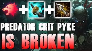 PREDATOR CRIT PYKE MID!! AUTO ATTACK + ULT - League of Legends