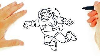 Como dibujar un Astronauta paso a paso   Dibujo facil de Astronauta
