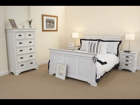 White painted bedroom furniture youtube for How to paint my bedroom furniture