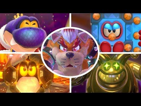 Super Mario 3D World - All Bosses (No Damage)