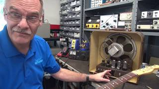 How to reduce noise Hiss Vintage Gibson EH-125 Tube Guitar amp Part 2