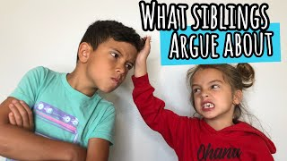 what SiBLiNGS argue about! | traveling!!