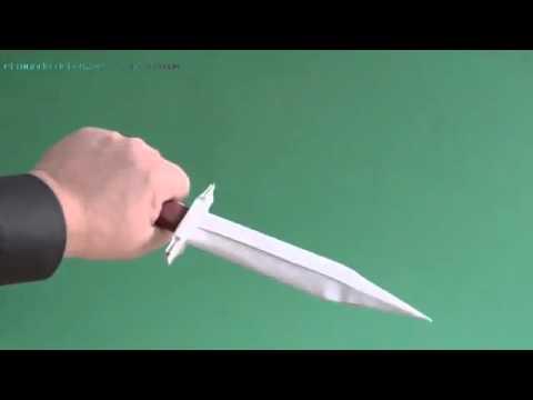 Como Hacer Un Cuchillo De Papel Youtube