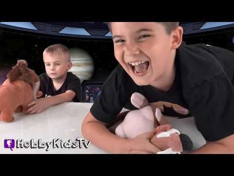 World's Biggest ICE AGE Surprise Meteor Egg! Collision Course Scrat Toys in Space HobbyKidsTV