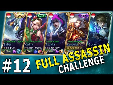 FULL ASSASSIN - LAWANNYA AUTO TOXIC - Mobile Legends Indonesia Part 12