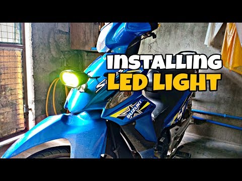 Paano mag install ng led light sa motor | suzuki smash115