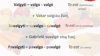 Lithuanian Vocabulary - Eating