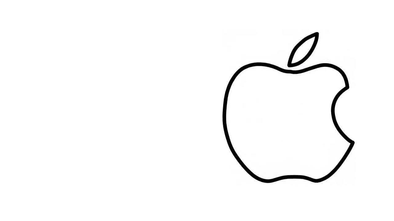How To Draw The Apple Logo White Apple Logo Coloring Page Learn Color Rezaul Drawing Academy Youtube