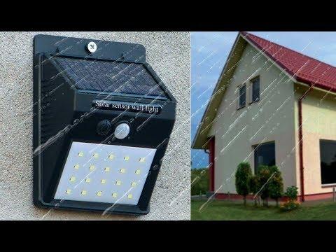 Светодиодные фонари уличного освещения на солнечных батареях с датчиком движения. Обзор