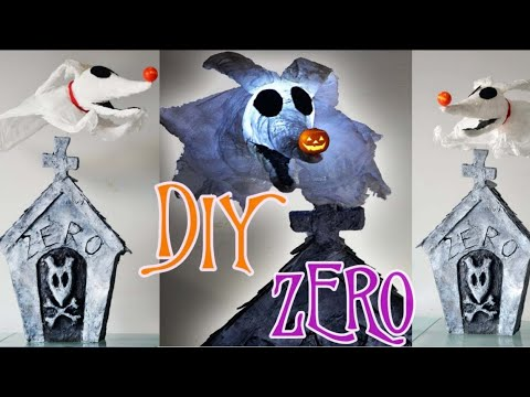 DIY Flying Light Up Zero from the Nightmare Before Christmas! Room /Halloween /Party Decoration