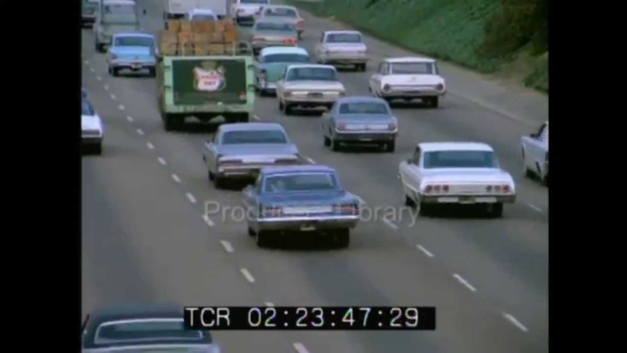 Los Angeles Traffic In 1973 Youtube
