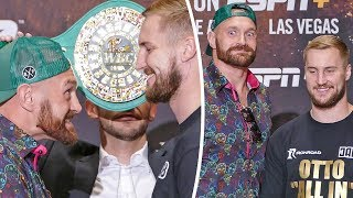 FUNNY FACE OFF!! 'THE GYPSY KING' Tyson Fury vs. Otto Wallin FACE TO FACE IN LAS VEGAS