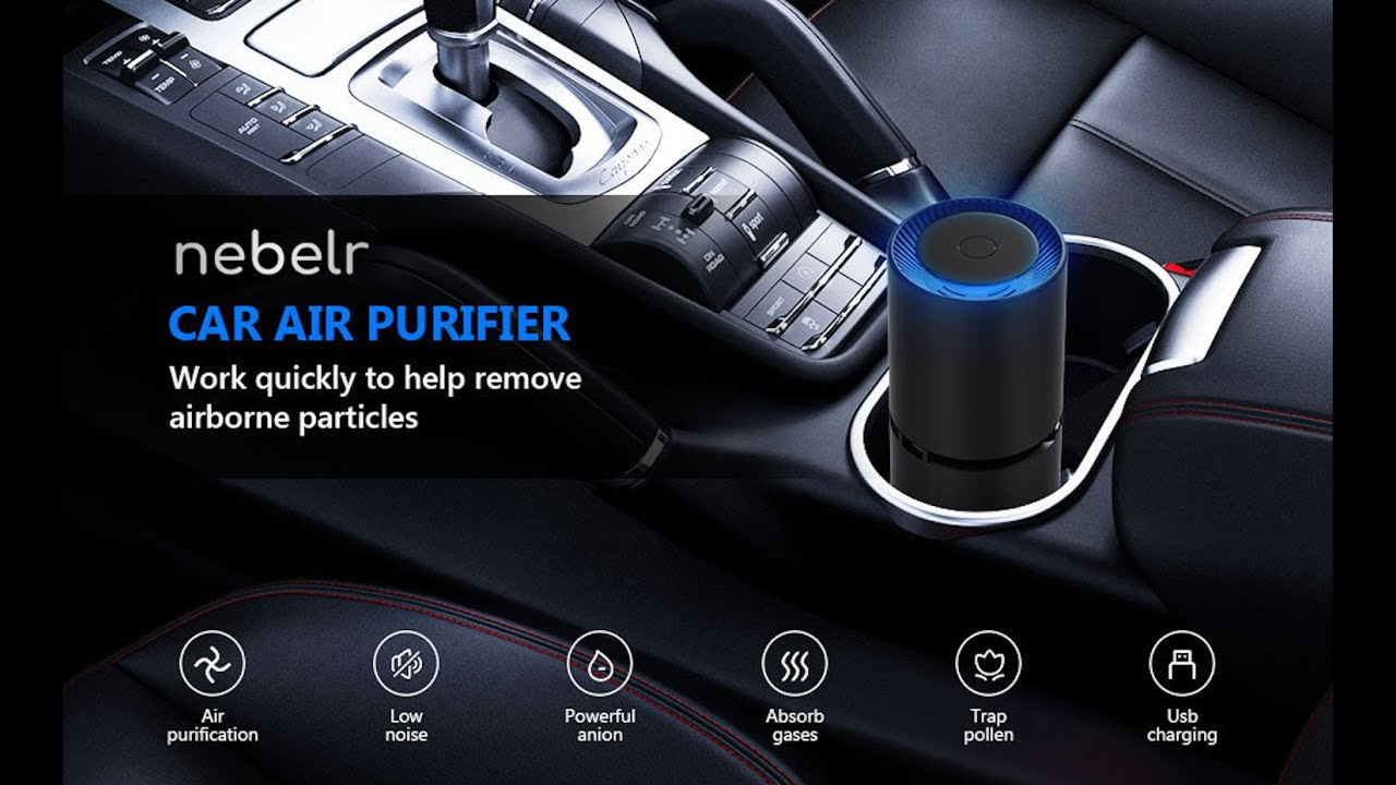Nebelr Car Air Purifier Ionizer for - 10 Million Negative Ions - Kills 99.9% Viruses - Removes PM2.5