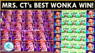 🍭MY BIGGEST WONKA WIN EVER! 😃 MULTIPLIER ON FULL SCREEN! PURE IMAGINATION SLOT MACHINE