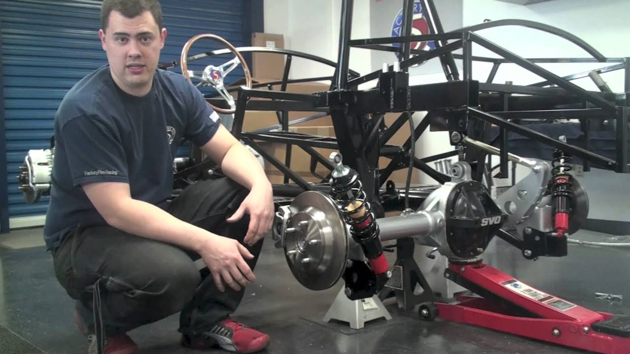 hight resolution of factory five mk4 build episode 7 rear end assembly