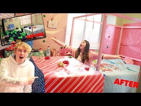 I GIFT WRAPPED AMEERAHS WHOLE ENTIRE ROOM! Christmas prank!