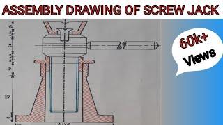 Drawing of Screw Jack
