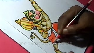 How to Draw Lord HANUMAN Step by Step Detailed Drawing for Learners