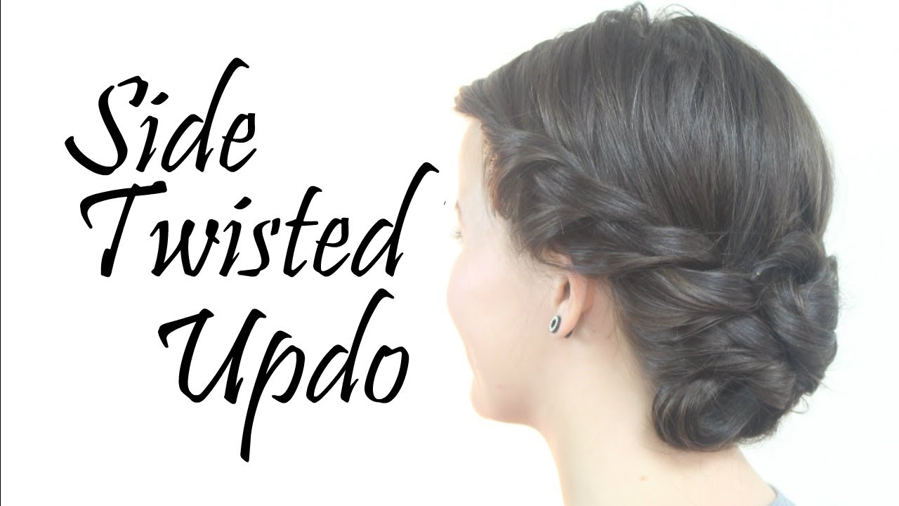Quick and easy Side twist updo - YouTube