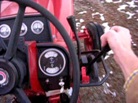 966 International Tractor  Driving & Shifting Out  YouTube