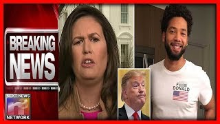 BREAKING: Sarah Sanders Just Turned to the Camera and DESTROYED Jussie Smollett