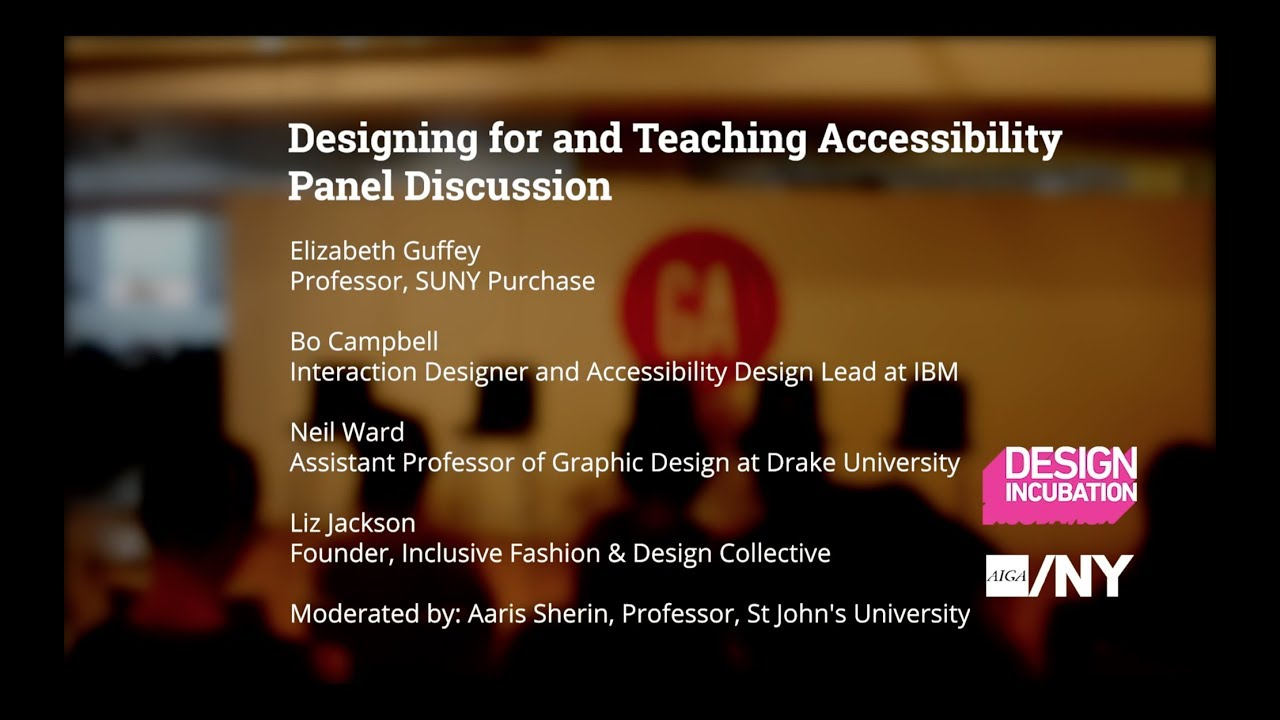 Designing For And Teaching Accessibility Panel Discussion Youtube