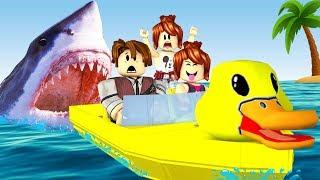 Roblox - TUBARÃO ATACOU O PATINHO (SharkBite)