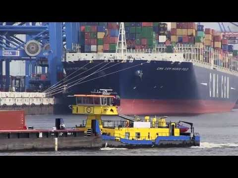 CMA CGM MARCO POLO / ex-Largest Container Ship / Port of Hamburg 2013, 16th May