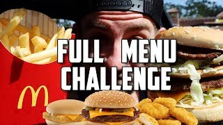 """SUPERCHARGED"" MCDONALDS MENU CHALLENGE!"