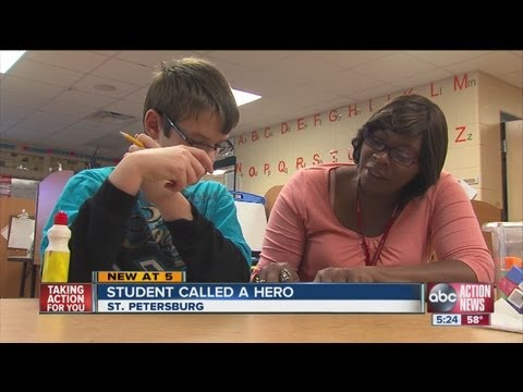 Student called a hero after saving teacher