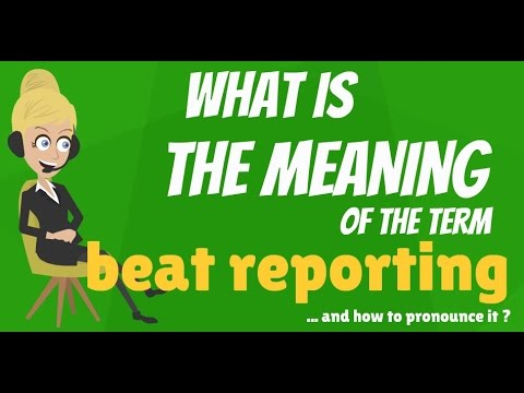 What is BEAT REPORTING? What does BEAT REPORTING mean? BEAT REPORTING meaning & explanation
