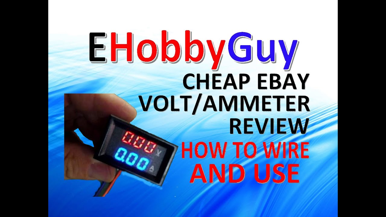 cheap ebay volt ammeter review how to wire and use [ 1280 x 720 Pixel ]