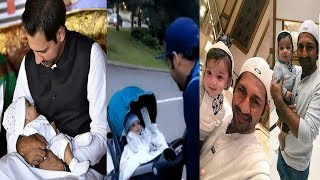sarfraz ahmed reciting naat for his son