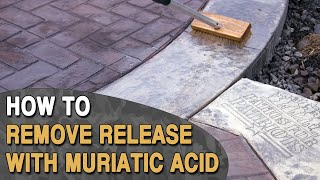 Removing Release Agent With Muriatic Acid