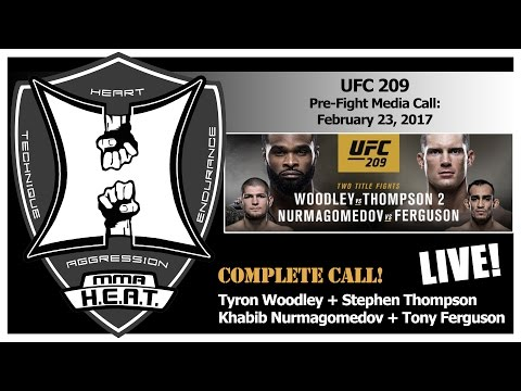 UFC 209:  Woodley vs Thompson + Nurmagomedov vs Ferguson Pre-Fight Media Call (LIVE! / FULL)
