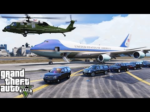GTA 5 Presidential Mod | Secret Service Escorting The President Of The United States Thru Los Santos