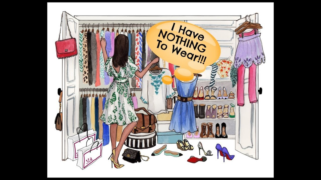Image result for nothing to wear cartoon