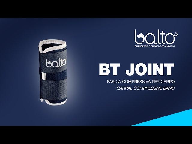 BT JOINT – TUTORE DEL CARPO - CARPAL BRACE