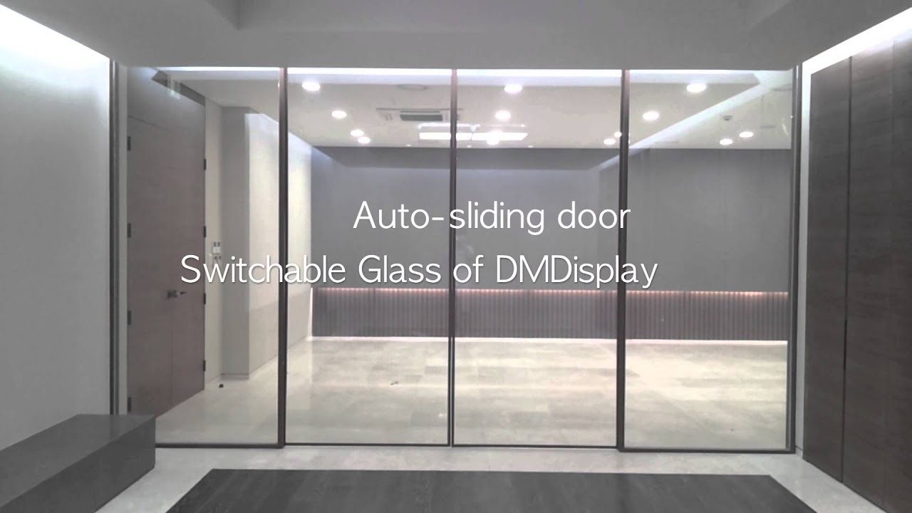 Switchable Glass Film At Auto Sliding Door Youtube