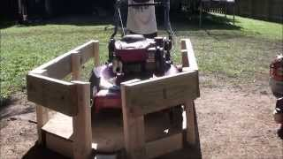 My new ATV trailer how i built it and load it up.