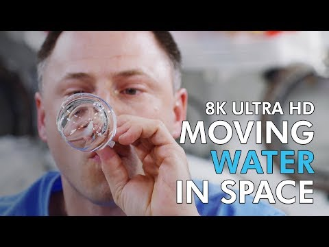 Moving Water in Space - 8K Ultra HD