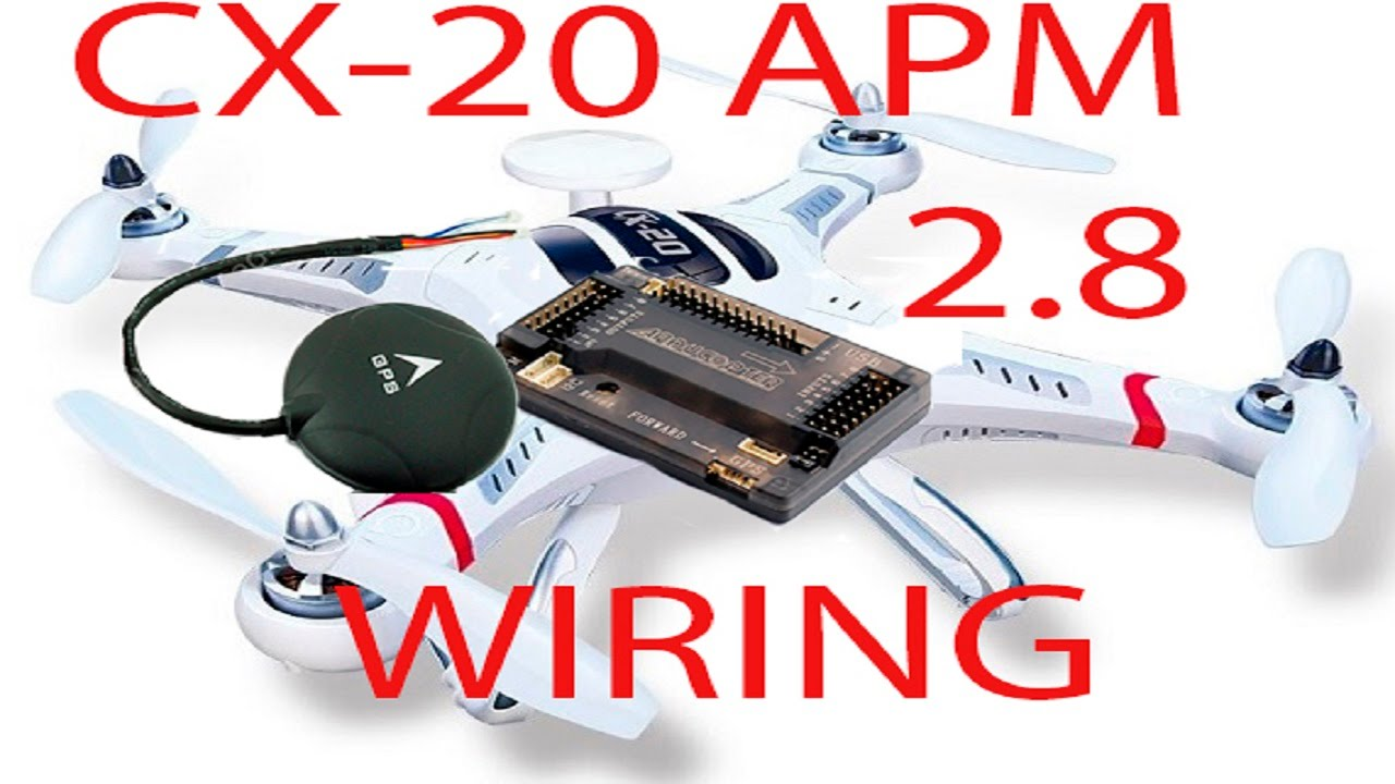 hight resolution of cx20 252 to apm 2 8 wiring for motors youtube esc wiring diagram 3 bugs cx20 quadcopter wiring diagram