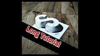 How to draw 3D Letter S - 3D Drawing - easy trick art - Art Maker Akshay