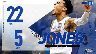Duke's Tre Jones: 22 points in Sweet 16 victory over Virginia Tech
