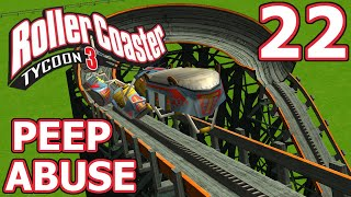 Peep Abuse (RollerCoaster Tycoon 3) - Part 22 - FLYING TURNS FREAK OUT