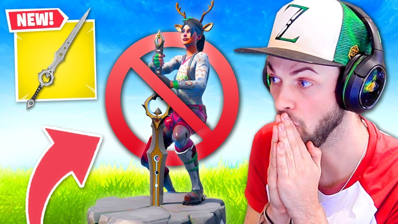 New Sword In Fortnite Is Broken Youtube
