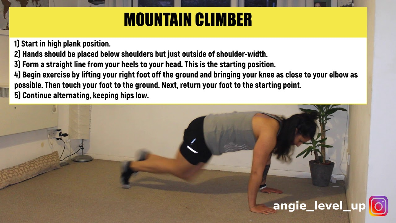How to do Mountain Climbers Exercise the RIGHT way