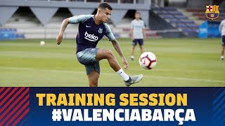 Last training session before the match against Valencia